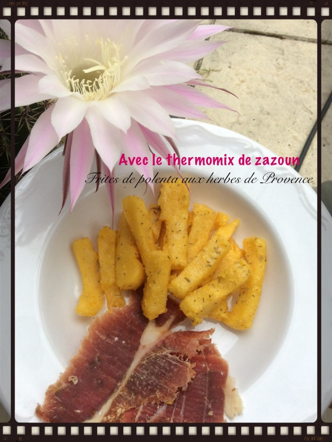 frites de polenta aux herbes de provence thermomix ou sans avec le thermomix de zazoun. Black Bedroom Furniture Sets. Home Design Ideas